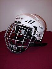 Reebok 3K Ice Hockey Helmet Small White Fm 5K Mask Small Hecc Cert Aug 2020