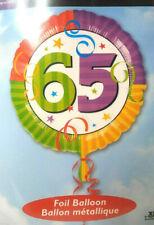 Foil Balloon 65 Birthday Anagram 18 in Retirement Old Round