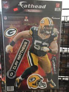 NEW NFL Green Bay Packers Clay Matthews 17x11 Vinyl Sheet Fathead Wall Graphic