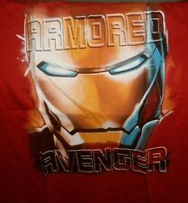 MARVEL COMICS IRON MAN AVENGERS TSHIRT RED LARGE NEW XL ARMORED AVENGER
