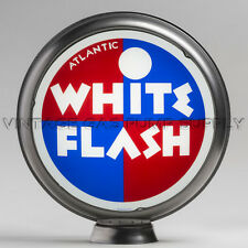"Atlantic White Flash 13.5"" Gas Pump Globe w/ Steel Body (G431)"