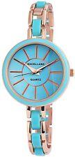 Damenuhr Blau Gold Analog Metall Armbanduhr Quarz Uhr D-195033000185575