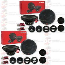 4 x Rockford Fosgate P165-Si 6.5-Inch 2-Way Car Audio Component Speaker System