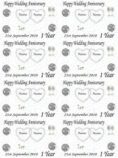 Personalised Paper 1st Wedding Anniversary Gift Wrapping Paper ADD NAMES & DATE