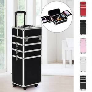 Makeup Beauty Cosmetic 4 in 1 Case Vanity Trolley Box Nail Hairdressing Storage