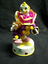 "Musical Spinning Porcelain Clown Music Box Plays ""Send in the Clowns"""