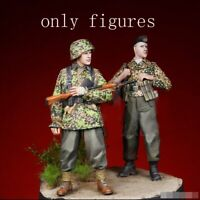 1/35 Resin WWII German SS 2 Soldiers Normandy unpainted unassembled CK091