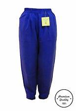 Unisex 100% Silk Harem Balloon Pants High Waist Long Casual Trousers Multicolors