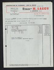 """LAVANCIA (39) USINE de TOURNERIE / JEUX & JOUETS """"Ets H. LARDY"""" en 1959"""