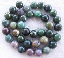 India Muliti-colour10mm Smooth Round Agate Gemstone Beads15""