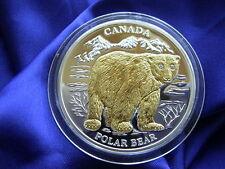 LIBERIA - 10 Dollars 2004 ** EISBÄR ** Kanada Gold Silber Brillanten Polar Bear