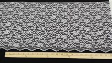 """Scalloped Floral Lace, Wide: White, 12"""" W, 3 yd. min., CTO"""