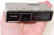 ANTIQUE VINTAGE 16mm SUB-MINIATURE SPY CAMERA - MINOLTA 16 - Clear Lens & Glass
