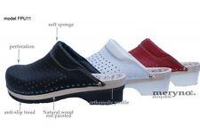 Women Shoes Clog doctors nurses leather FPU11