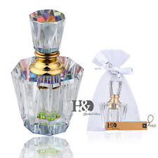 Crystal Faceted Empty Perfume Bottle Stopper Refillable Wedding Favor Gift 3ml