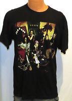 vtg Aerosmith NINE LIVES WORLD TOUR 90s t-shirt LARGE rock black 1997 L