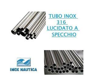 TUBO BARRA ACCIAIO INOX AISI 316 LUCIDATO A SPECCHIO Ø 25mm