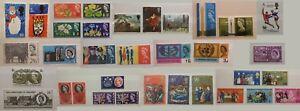 GB Stamps 1953 - 1971 Pre Decimal Commemorative Phosphor Ordinary fm 99p Multi