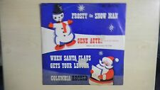 """Columbia Records FROSTY THE SNOWMAN Gene Autry 10"""" 78rpm 50s + Tiny Xmas Card"""