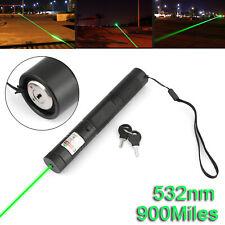900Miles Green Laser Pointer Pen Visible Beam 18650 Torch Lazer Lamp 532nm