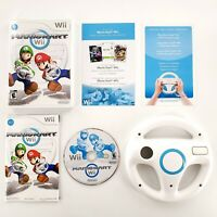 Mario Kart (Nintendo Wii, 2008) Complete w/ Steering Wheel Tested & Works