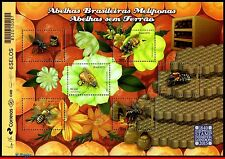 3304 BRAZIL 2015 BEES, INSECTS, AROMATIC,PHILATELIC EXHIBITION LONDON,SHEET MNH