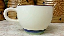 Pfaltzgraff Valley View Coffee Fat Cup/Mug Purple Green Bands  purple rim