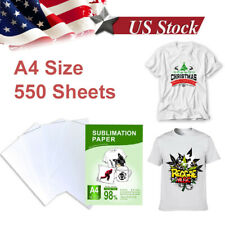 550 Sheets A4 Dye Heat Sublimation Transfer Paper For Diy Mug Polyester T Shirt