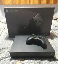 MICROSOFT XBOX ONE X 1TB BLACK CONSOLE BOXED WITH CONTROLLER - GREAT CONDITION