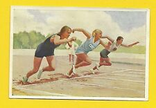 Track & Field Racing Running Sprinting Vintage 1932 Sanella Sports Card #102