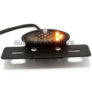 Motorcycle LED Turn Signal Brake Tail Light Mount For Bobber Chopper Cafe Racer