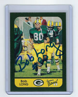 PACKERS Bob Long signed card SB II AUTO Autographed Green Bay Super Bowl II Aniv