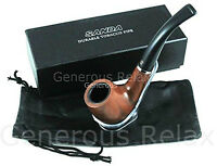 Wooden Smoking Pipe Tobacco Pouch + Stand Pipe + Pipe Cleaner + Box High Quality