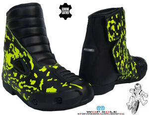 KIDS REAL LEATHER MOTORBIKE / MOTORCYCLE CUBS RACING SHORT SPORTS SHOES / BOOTS