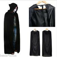 Halloween Hooded Cape Adult Unisex Long Cloak Black Costume Dress Coats Cheap AU