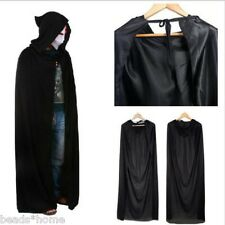 Halloween Hooded Cape Adult Unisex Long Cloak Black Costume Dress Coats Gifts ##