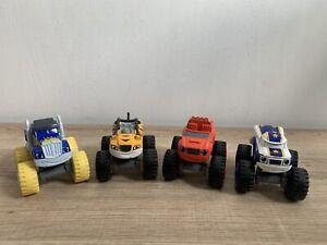 Blaze And The Monster Machines Die-Cast Monster Trucks X4 Blaze,Stripes VGC