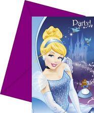 Disney Princess Cinderella 6 party Invitations