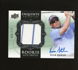 2013 UD Exquisite Golf Kevin Stadler Rookie AUTO Swatch /175 Stock Photo