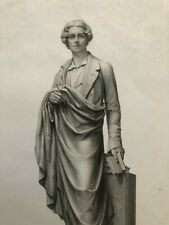 1852 ANTIQUE ENGRAVING Earl of Belfast Sculpture BAS Relief Monument