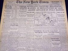1943 OCTOBER 24 NEW YORK TIMES - RUSSIANS CAPTURE MELITOPOL - NT 1761