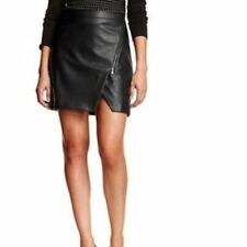 Faux Leather Regular Machine Washable Mini Skirts for Women