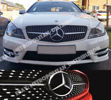 MERCEDES C w204 Saloon/Coupé/Estate Grillon, Star/Diamond, Single Fin, AMG c43, Black
