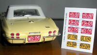 1965 - 1969 WISCONSIN miniature LICENSE PLATES for 1/25 scale MODEL CARS