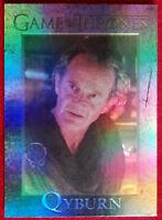 GAME OF THRONES Season 4 FOIL PARALLEL Card #82 - QYBURN - Rittenhouse 2015