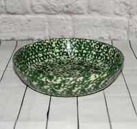 Vintage Roseville Pottery Bowl Green Spongeware 8 in Workshop of Gerald E Henn
