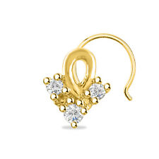 Finish 925 Sterling Silver Three Stone Prong Set Cubic Zirconia 14K Yellow Gold