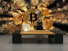 Bitcoin Coin  Photo Wallpaper Wall Mural DECOR Paper Poster Free Paste
