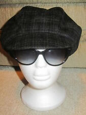 859ad97fdaa Genie Wallace Eugenia Kim Grey Charcoal Wool Newsboy Hat Cap M Medium