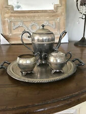 Federal Sterling Silver Coated Four Piece Tea Set